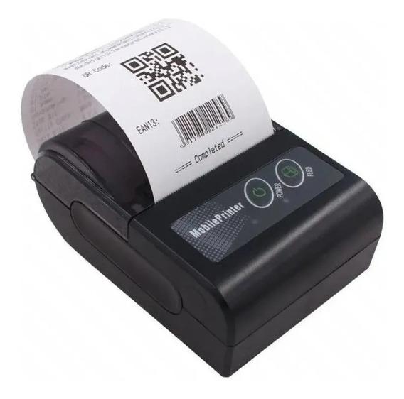 Kit 6 Mini Impressora Portatil Bluetooth Termica 58mm