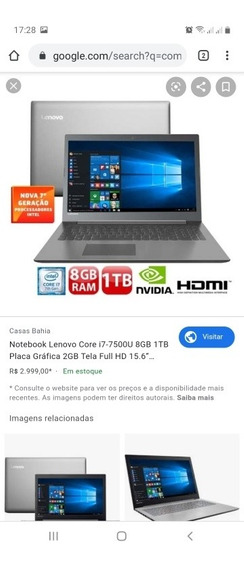 Vendo Notbook Gamer I7 Placa De Video Para Jogos