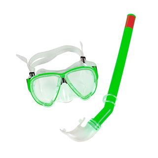 Kit Máscara Belfix E Snorkel Natação Mergulho Premium Verde