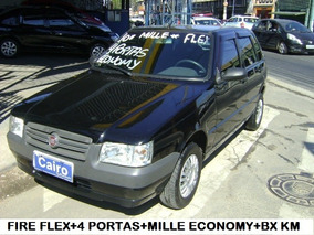 Fiat Uno 4 Portas Flex Novissimo Baixa Quilometragem Km