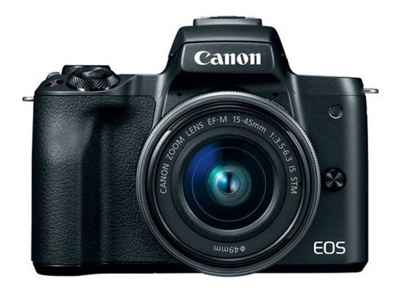 Câmera Canon Eos M50 15-45mm F/3.5-6.3 Is Stm Preto