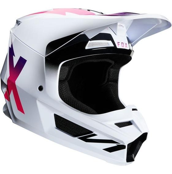 Casco Fox V1 Werd Blanco Motocross Enduro Utv Atv Rzr