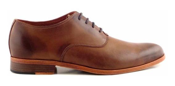 Zapato Cuero Briganti Liso Cordon Premium Suela - Hcac00913