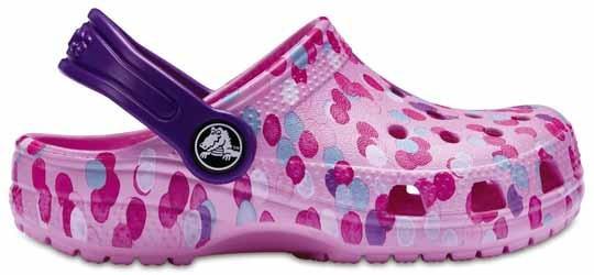 Zapato Crocs Unisex Infantil Classic Graphic Clog Kids Rosa
