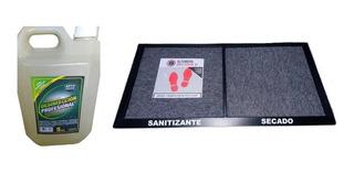 Alfombra Sanitizante 2 En 1 Sucia/limpia 90x50 + Liquido 5lt