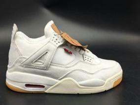 Tenis Nike Air Jordan 4 Retro Levis White Original