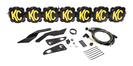 Kit De Barra Con 7 Luces Kc Gravity Led Pro6 Para X3