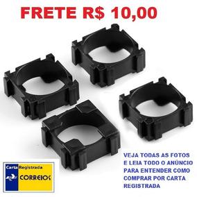Kit Com 10 Unidades Suporte P/ Packs Bateria 18650 Frete 10