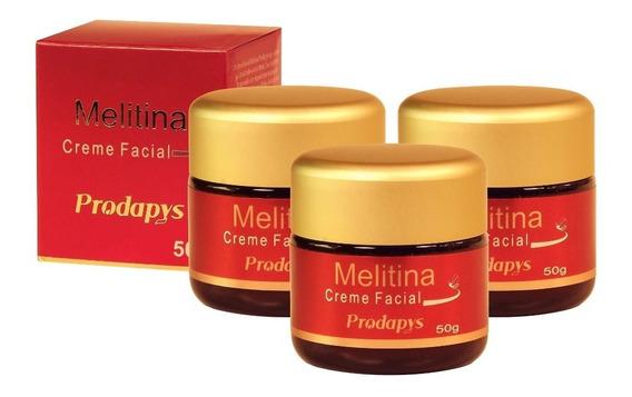 Melitina Creme Facial 50g Kit Com 3 Unidades
