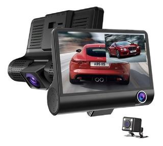 Triple Camara De Video Dvr Auto 1080p + Sensor Retroceso