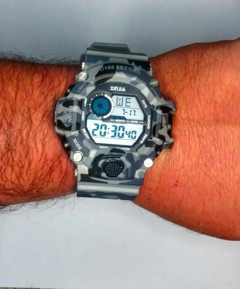 Relógio Digital Xinjia Camuflado Com Proteção Shock Original