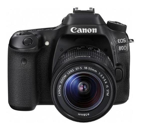 Câmera Dslr Canon Eos 80d De 24.2mp/full Hd 3.0/wi-fi/+ Kit