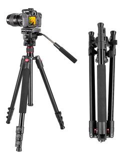 Tripie Con Cabeza Fluida Para Video Dslr Canon Nikon Sony Ms