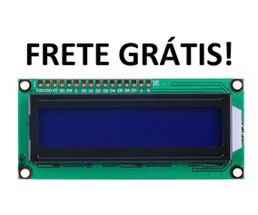 Display Tela Lcd 16x2 1602 Backlight Azul Arduino Oferta
