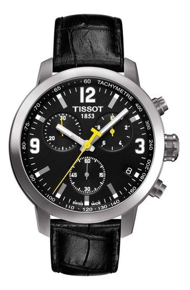 Relógio Tissot Prc 200 T055.417.16.057.00 Preto Novo Couro