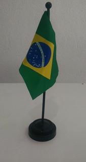 Bandeira De Mesa Do Brasil Com Base De Plastico