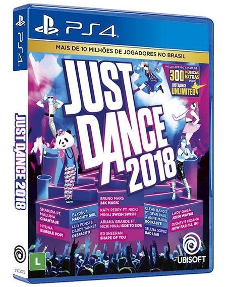 Just Dance 2018 - Ps4 - Mídia Física Original E Lacrada