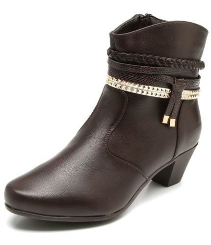 Bota Feminina Mooncity Ankle Boots Trançada 77951