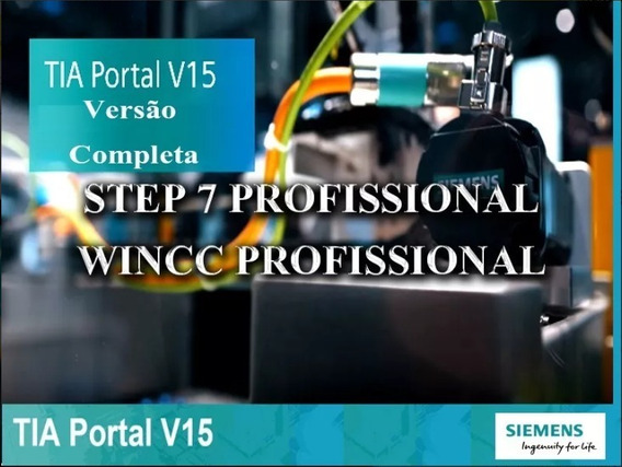 Siemens Tia Portal V15 + Wincc V15 + Simulador Plcsim V15