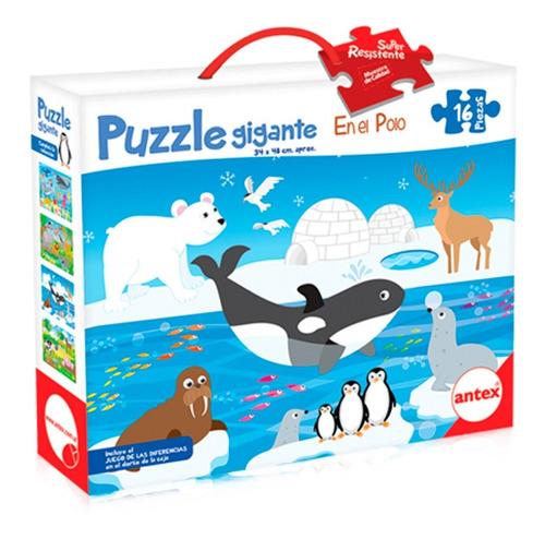 Imagen 1 de 3 de Puzzle 16 Piezas Grandes - Rompecabezas Niños