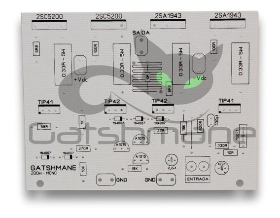 Placa Para Montar Amplificador 200w 2sc5200/2sa1943