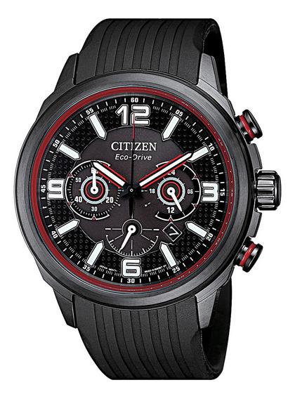 Relógio Citizen Masculino Cronógrafo Silicone Preto Ca4386-1