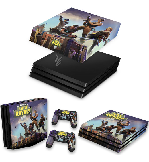 Kit Capa E Skin Ps4 Pro Playstation 4 Fortnite Battle Royale