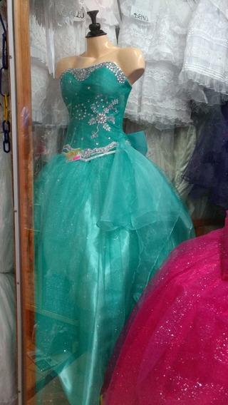 Vestido De Xv Años Con Falda De Brillos + Envio Gratis