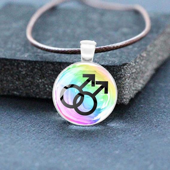 Colar Masculino Lgbt Orgulho Gay + Brinde