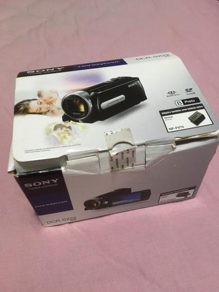 Camera Filmadora Sony Dcr Sx22 Zoom Óptico 70x Preta Top