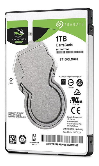 Disco Duro Seagate Barracuda 1tb Sata3 Notebook 7mm