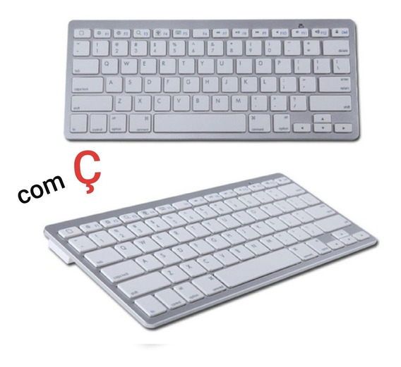 Teclado Bluetooth S/ Fio Smarttv Tablet Notebook Ios Android