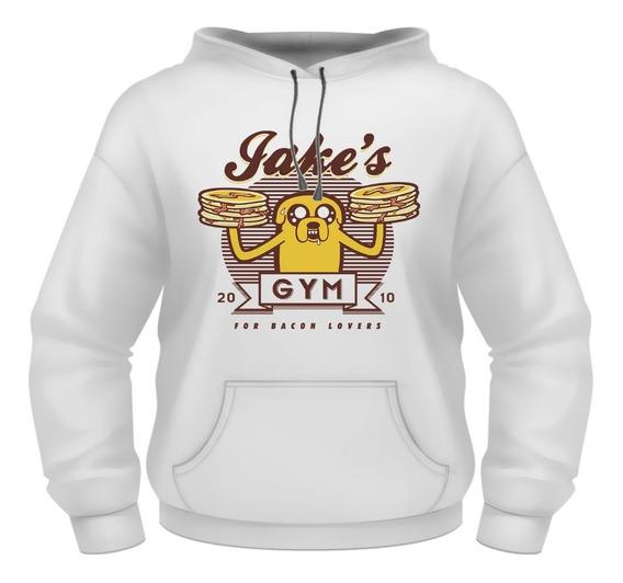 Sudadera Hoodie Hora De Aventura Gimnasio De Jake Pancakes Hot Cakes Pasteleria Flinn El Humano Y Jake El Perro