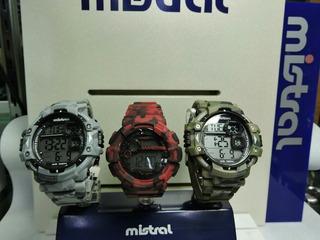 Reloj Mistral Digital Camuflado Hombre