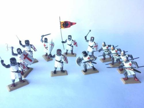 Soldados Templarios Medievales Set Especial Cruz Roja X 12