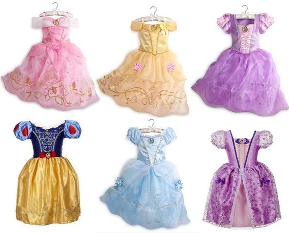 Vestido Princesas Sophia Branca De Neve Cinderela Rapunzel