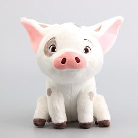 Pua Porco Pelúcia Porquinho Moana Original Disney 22cm