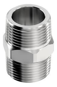 5 Niple Macho X Macho Rosca 1/4 Bsp - Latão / Ar Comprimido