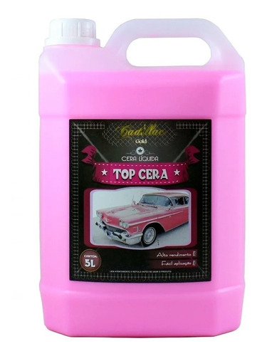 Imagem 1 de 2 de Cera Líquida Carnaúba Concentrada 5l - Top Cera - Cadillac