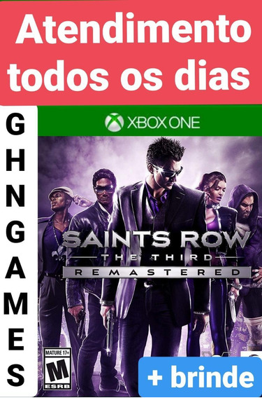 Saints Row The Third Remaster Xbox One Mídia Digital