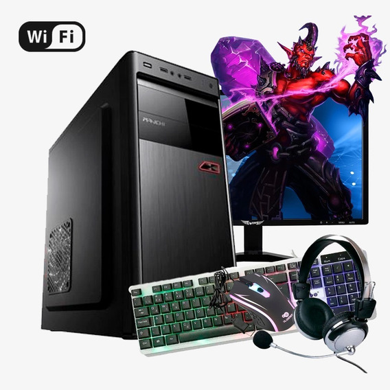 Pc Gamer Completo Intel Core, 8gb Ram, Monitor Led, Kit Game