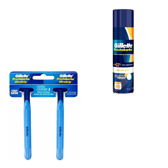 4 Aparelho Para Barbear Descartável Gillette +espuma Gillete