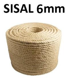 Corda Sisal 10m Natural 6mm Artesanato Amarração E Uso Geral