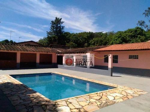 Chácara Com 2 Dormitórios À Venda, 1200 M² Por R$ 450.000,00 - Jardim Monte Belo - Campinas/sp - Ch0087