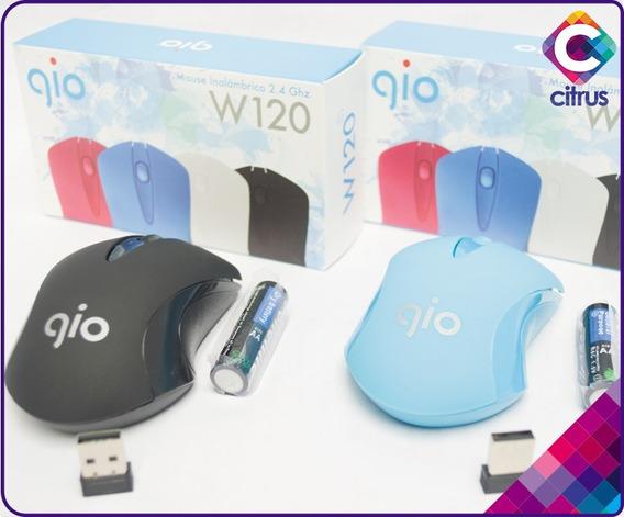 Mouse Inalambrico 2.4ghz W120 Gio Bateria Aa