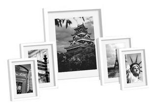Marcos Para Foto Box Portarretrato Set X 5 - Prestigio