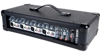 Amplificador De Audio Con Mixer Inc 4 Canales 300w 100 Rms