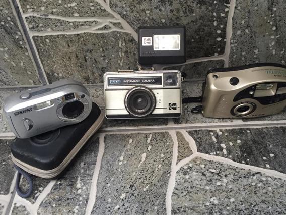 3 Câmeras Fotográficas Antigas - Usadas