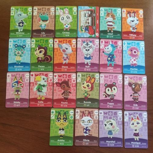 Tarjetas Amiibo Animal Crossing Set 20 Unidades + Llavero