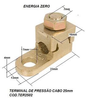 Terminal De Pressão Latão Conter Cod.ter2502